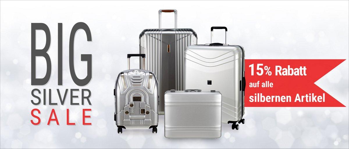 Bild zu Koffer-Direkt: 15% Rabatt auf alle silbernen Artikel und weitere 5% Rabatt bei Vorkasse