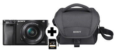 SONY Alpha 6000 Kit Systemkamera 24 3 Megapixel mit Objektiv 16-50 mm f 5 6, 7 5 cm Display , WLAN