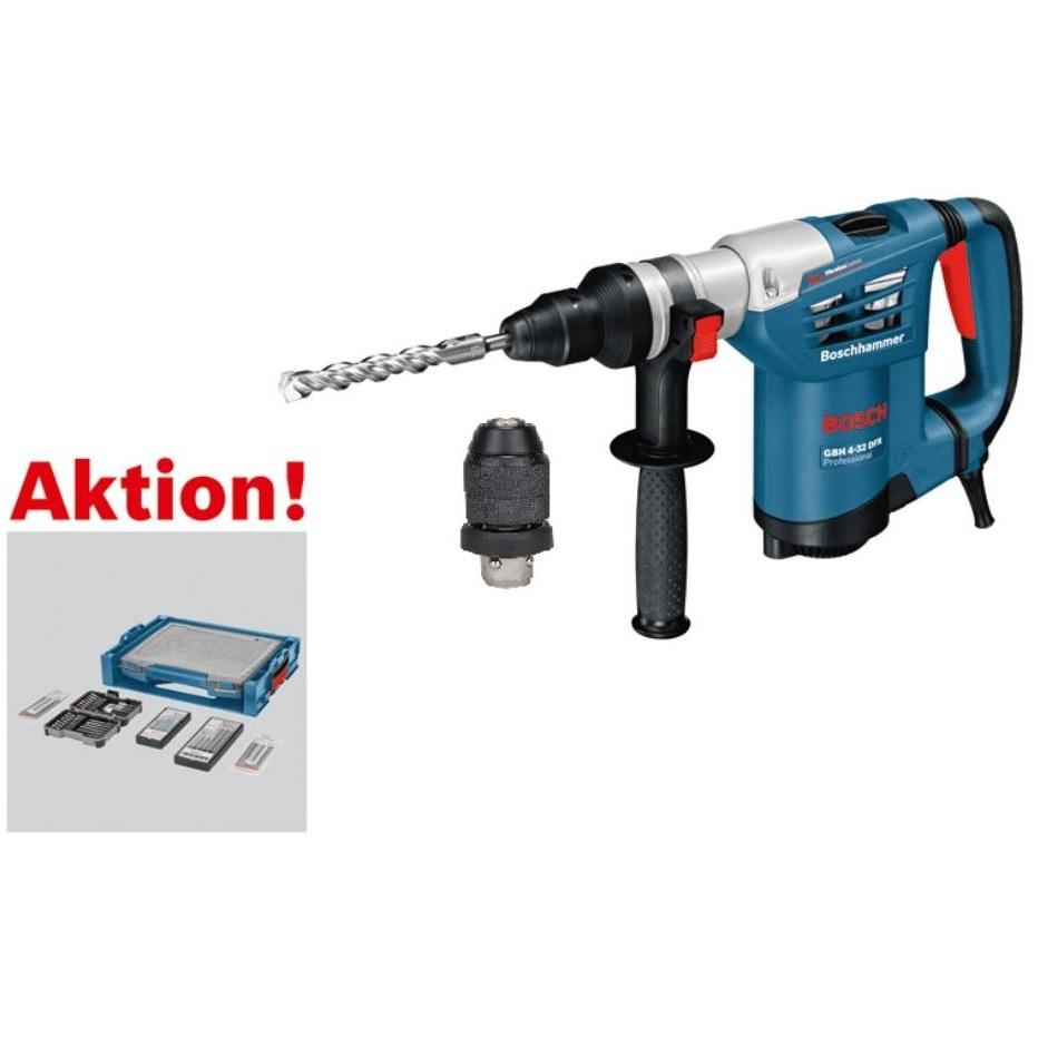 Bild zu Bosch SDS Plus Bohrhammer GBH 4-32 DFR mit L-BOXX Zubehör-Set für 343,50€ (Vergleich: 448,37€)