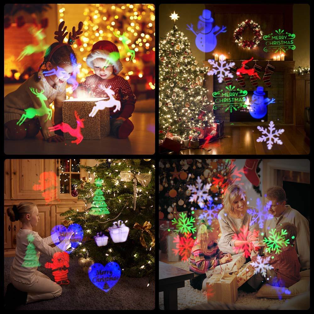 Bild zu Projektionslampe mit 12 verschiedenen Weihnachtsmustern (E27) für 12,59€