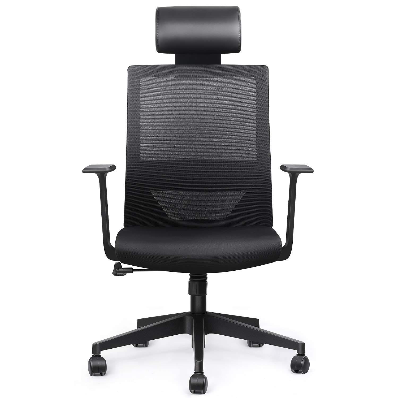 Bild zu Amzdeal ergonomischer Schreibtischstuhl mit einstellbarer Kopfstütze und Wippfunktion für 71,49€