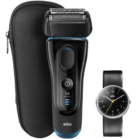Bild zu Herren Elektrorasierer Braun Series 5 5145 Wet&Dry mit Braun Armbanduhr BN0021 für 149€ (Vergleich: 189€)