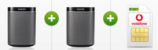 Bild zu MD Vodafone Comfort Allnet Tarif (Allnet-Flat, 4GB Datenvolumen) inkl. 2 x Sonos Play 1 (einmalig 39€) für 19,99€/Monat