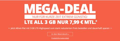 Bild zu winSIM monatlich kündbaren Vertrag im o2-Netz mit 3GB LTE Datenflat, SMS und Sprachflat für 7,99€/Monat + aktuell 9,99 Anschlussgebühr (sonst 19,99€)