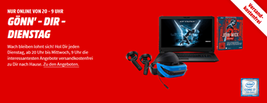 """Bild zu MediaMarkt """"Gönn dir Dienstag"""" mit Angeboten aus dem Bereich Musik, Film, Toys, Gaming + PC"""