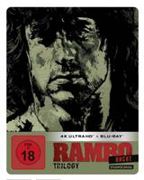 Bild zu Rambo Trilogy (Uncut, Limited SteelBook Edition, 4K Ultra HD) (3 BR4K) (+ 3 BRs) für 49,19€ (Vergleich: 67,99€)