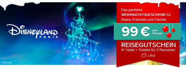 Bild zu Reisegutschein für das Disneyland Paris mit Übernachtung in einem 4* Sterne Hotel plus Eintritt für 99€ pro Person