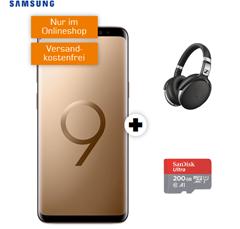 Bild zu SAMSUNG Galaxy S9+ Dual-SIM & Sennheiser HD 4.50 & SanDisk 200GB MicroSD (einmalig 79€) mit Telekom Tarif (1GB Daten, Sprachflat) für 21,99€/Monat