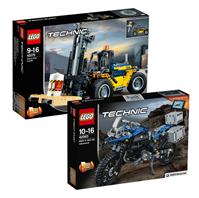 Bild zu LEGO Technic Bundle Schwerlast-Gabelstapler 42079 und BMW R 1200 GS Adventure 42063 für 66,98€ (Vergleich: 84,87€)