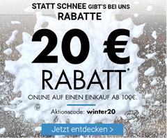 Bild zu Karstadt: 20€ Rabatt auf (fast) alles (ab 100€ MBW)