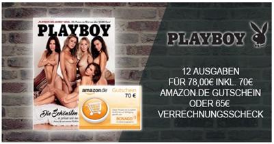 """Bild zu [geht noch] 12 Ausgaben der Zeitschrift """"Playboy"""" für 78€ + 70€ Amazon.de Gutschein als Prämie"""
