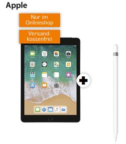 Bild zu APPLE iPad 2018 Wi-Fi + Cellular (32GB) & Pencil für einmalig 79€ im Telekom Netz mit 10GB LTE Datenflat für 19,99€/Monat