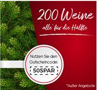 Bild zu Weinvorteil: 50% Rabatt auf alle nicht reduzierten Weine + ab 18 Flaschen kostenloser Versand