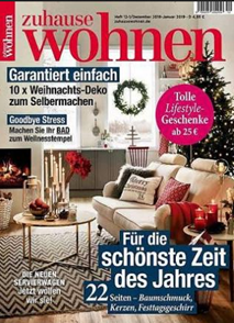 """Bild zu [Top] Jahresabo (10 Ausgaben) der Zeitschrift """"zuhause wohnen"""" ab 37,50€ + bis zu 40€ Prämie"""