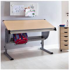 Bild zu Wohnling Design Kinderschreibtisch MAXI (120x60cm, Buche, neigungs-verstellbar, höhenverstellbar) für 69,99€ (Vergleich: 91,77€)