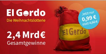 Bild zu [bis Samstag 8 Uhr] Lottohelden Neukunden: El Gordo 1/100 Los (2,4 Milliarden Gesamtgewinne) für 99 Cent
