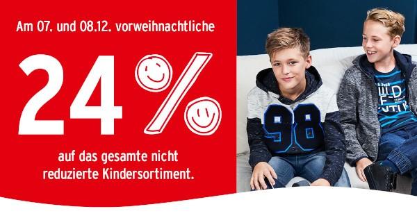 Bild zu Ernstings Family: 24% Rabatt auf das reguläre Kindersortiment
