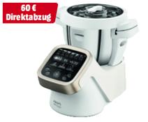 KRUPS HP5031 Prep Cook Küchenmaschine mit Kochfunktion, Weiß Grau Edelstahl