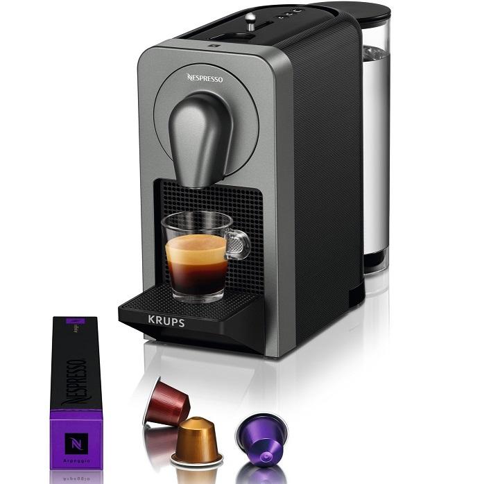 Bild zu Kapselmaschine Krups Nespresso Prodigio XN410T für 108,90€ (Vergleich: 130,99€
