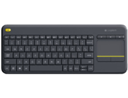 LOGITECH K400 Plus, Tastatur, Schwarz