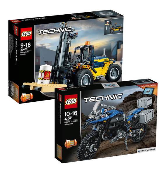 Bild zu Lego Technic Schwerlast-Gabelstapler (42079) + BMW R 1200 GS Adventure (42063) für 66,98€ (Vergleich: 82,97€)