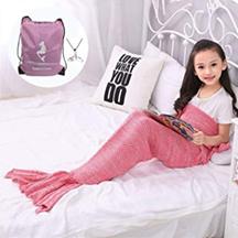 Bild zu Moens Meerjungfrau Strickdecke inkl. Tasche für 10,79€