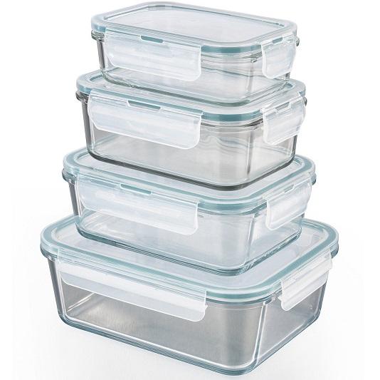 Bild zu 4er Set GOURMETmaxx Klick-It Glas-Frischhaltedosen mit Deckel für 17,99€ (Vergleich: 19,99€)