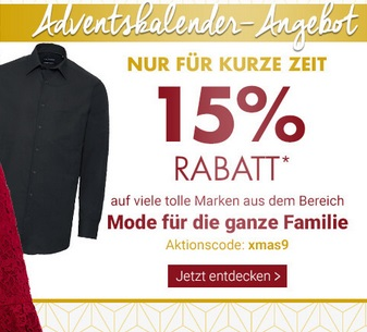 Bild zu Karstadt: 15% Rabatt auf viele tolle Marken aus dem Bereich Mode für die ganze Familie