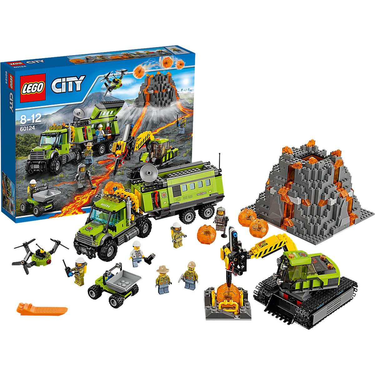Bild zu Lego City Vulkan-Forscherstation (60124) für 74,94€ (Vergleich: 87,99€)