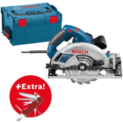 Bild zu Bosch Professional Handkreisäge GKS 65 GCE 1.800 Watt L-BOXX + Victorinox für 199,99€ inkl. Versand (Vergleich: 239€)