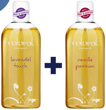 Bild zu Eis.de: 2x 250 ml Massageöl, Lavendel und Vanille + 6 Gratisartikel für 5,97€ inkl. Versand (Vergleich: 17,63€)