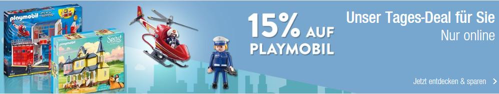 Bild zu Galeria Kaufhof: 15% Rabatt auf Playmobil