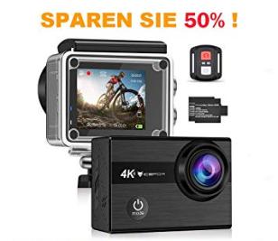 Bild zu IceFox Action Cam 4k mit 2 Akkus und wasserdichtem Gehäuse für 39,99€ inkl. Versand