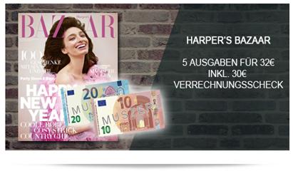 Bild zu 5 Ausgaben Harper´s Bazaar für 32€ inkl. 30€ Verrechnungsscheck