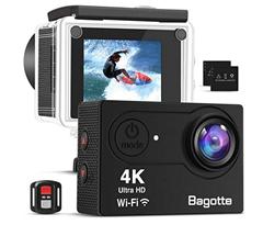 Bild zu Bagotte Action Camera 4K UltraFHD mit Fernbedienung für 32,49€