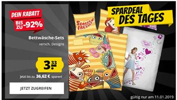 Bild zu SportSpar: Kinder Bettwäsche Sets (Sorgenfresser/Violetta) für je 3,33€ zzgl. 3,95€ Versand