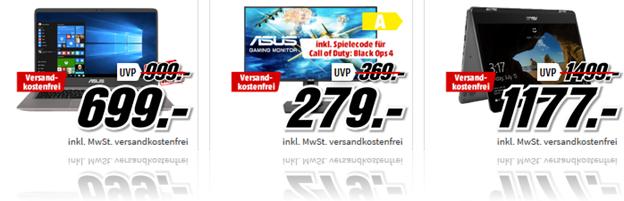 Bild zu [Top – bis 9 Uhr] MediaMarkt Tiefpreisspätschicht mit Asus, so z.B. ASUS ZenBook S UX391UA für 988€ (Vergleich: 1.207,99€)