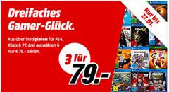 Bild zu MediaMarkt: 3 Games (PS4, Xbox oder PC) für 79€