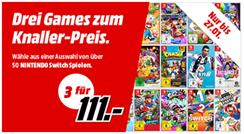 Bild zu [nur noch heute] MediaMarkt: 3 Nintendo Switch Games für 111€