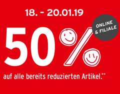 Bild zu Ernsting's Family: Sale mit bis zu 60% Rabatt + dieses Wochenende 50% Extra-Rabatt auf reduzierte Artikel