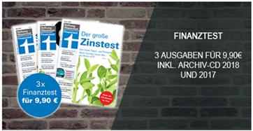 Bild zu 3 Ausgaben Finanztest + Archiv-CD 2018 und 2019 für 9,90€