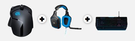 Bild zu Logitech G402 Gaming Maus + G430 Gaming Headset + G910 Gaming Tastatur für 149€ (Vergleich: 201,11€)
