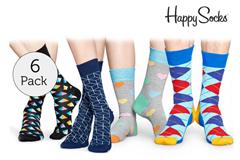 Bild zu 6er Pack Happy Socks Socken für je 30,90€ (Vergleich: 41,82€)