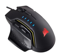 Bild zu Corsair GLAIVE RGB Gaming Maus (16000 DPI) schwarz für 40,98€ (Vergleich: 69,90€)