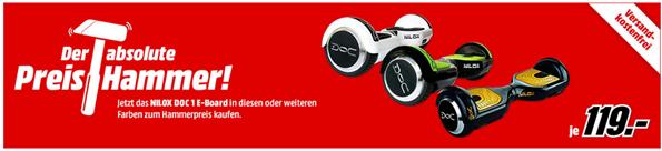Bild zu NILOX DOC E-Board/Hoverboard (6.5 Zoll) in versch. Farben für je 119€ (Vergleich: 159€)