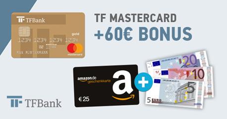 Bild zu Kostenlose TF Gold Mastercard Kreditkarte mit bis zu 60€ Bonus