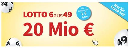 Bild zu Lottohelden: 6 Lottofelder für 1€ (anstatt 6,20€) als Neukunde – 25 Millionen Jackpot