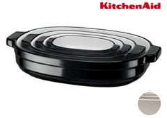 Bild zu KitchenAid Auflaufform-Set oval schwarz/cream 4-teilig für 58,90€ (Vergleich: 99,95€)