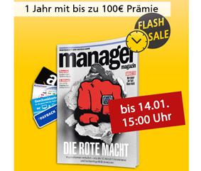 Bild zu Jahresabo Manager Magazin für 109,40€ + bis zu 100€ Prämie