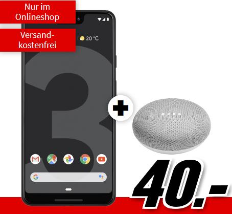 Bild zu Google Pixel 3 XL 64 GB+ Home Mini (einmalig 40€) inkl. Flat Allnet Plus Tarif (2GB Datenvolumen bis zu 42,2 Mbit/s, Allnet-Flat) für 26,99€/Monat